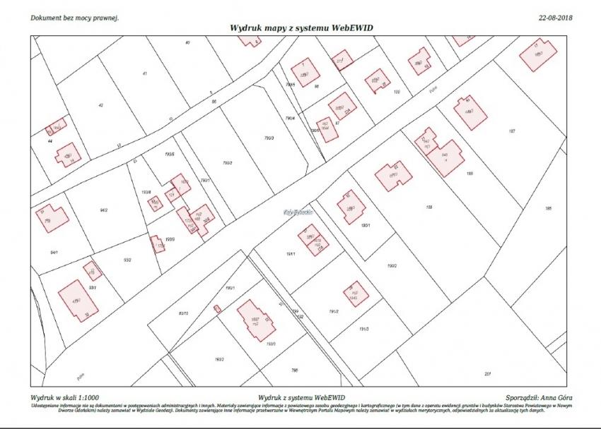Ogłoszenie o trzecim ustanym przetargu nieograniczonym na sprzedaż nieruchomości gruntowej niezabudowanej dz. nr 790/3 Kąty Rybackie ul. Akacjowa