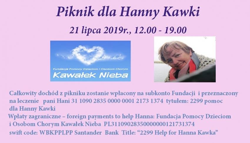 Nowy Dwór Gd. W niedzielę piknik charytatywny dla pani Hani. Na pomoc w walce z rakiem.