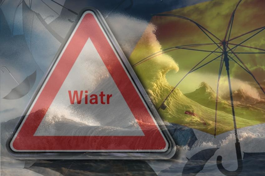 Silny, północny wiatr na Żuławach. Możliwe przekroczenia stanów ostrzegawczych.