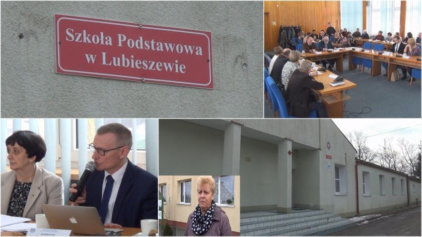 Spotkanie z burmistrzem odnośnie szkoły w Lubieszewie.