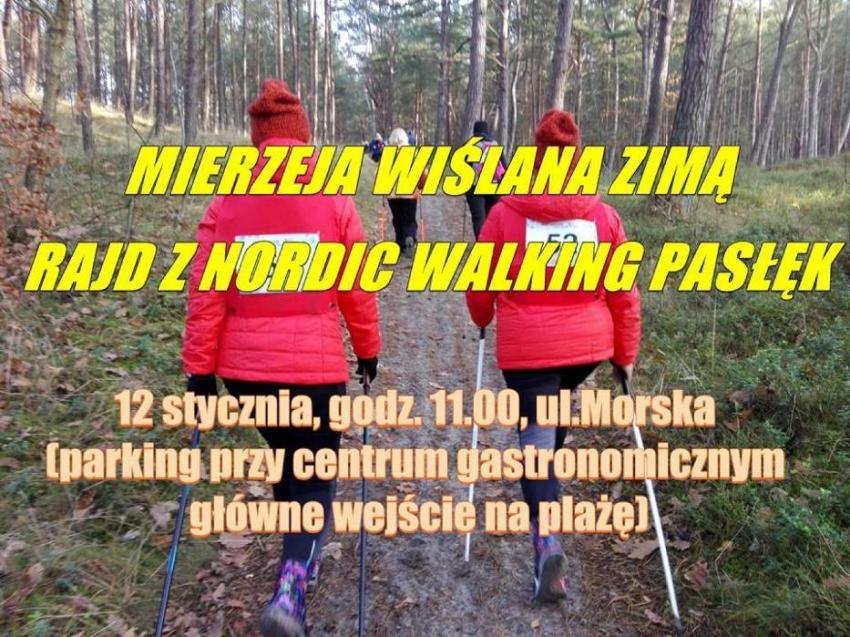 Sztutowo. Rajd Nordic Walking. Mierzeja Wiślana zimą.