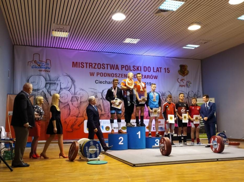 Srebrny medal dla młodego ciężarowca z LKS Żuławy na Mistrzostwach Polski.