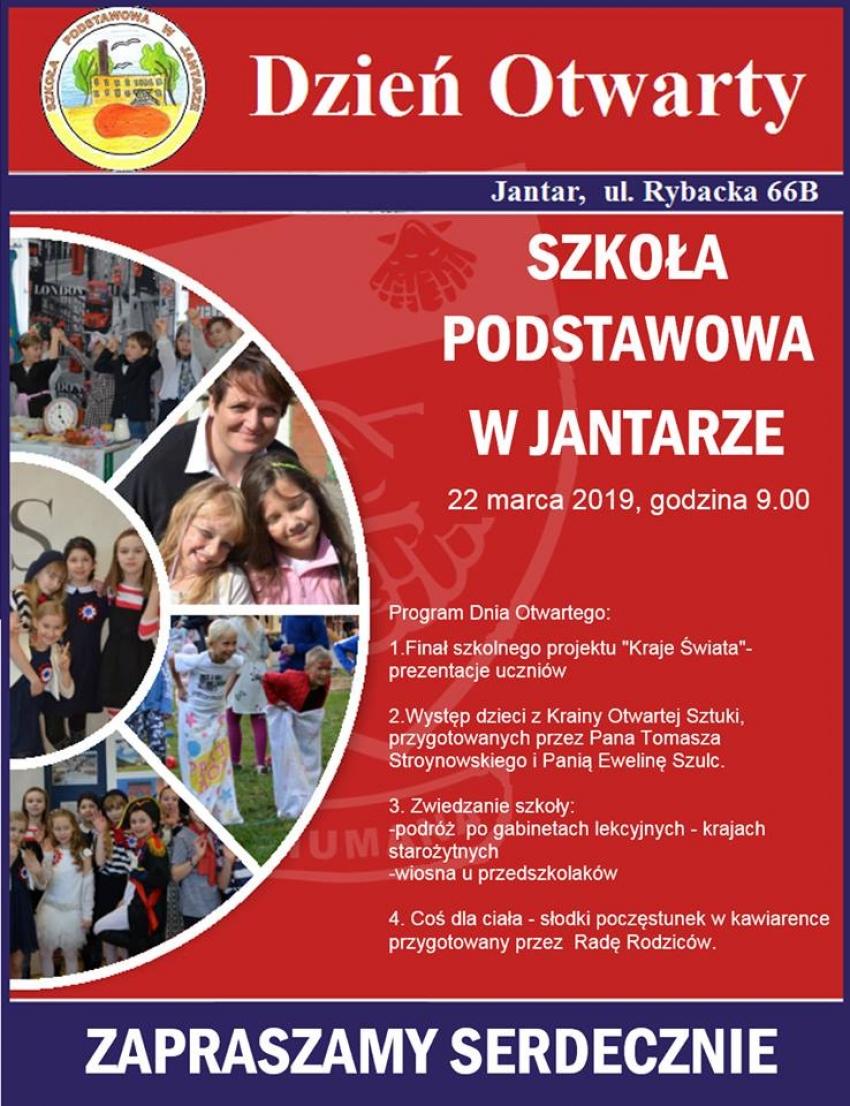 Szkoła Podstawowa w Jantarze zaprasza na dzień otwarty.