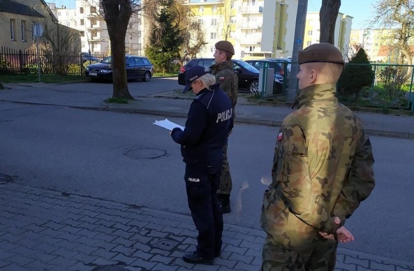 Nowy Dwór Gdański. Wspólne patrole z żołnierzami Wojsk Obrony Terytorialnej