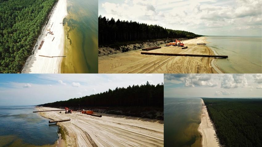 Mierzeja Wiślana. Rozpoczęło się poszerzanie plaż od Sztutowa do Stegny.