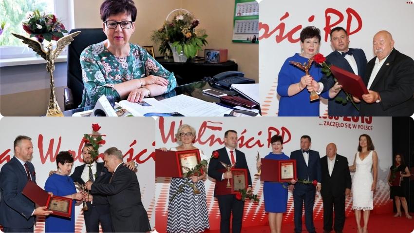 Ewa Dąbska uhonorowana nagrodą specjalną Wójt 30-lecia Wolności RP. Statuetka Orła Przedsiębiorczości dla Gminy Stegna.