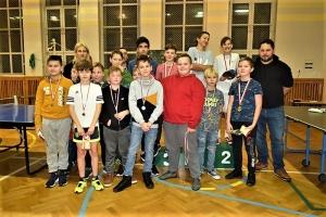 Mikołajkowy Turniej Ping Ponga o rakietkę sołtysa Stegny 2019