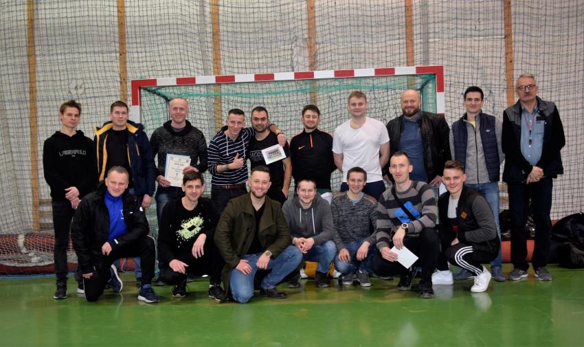 Finał II ligi Żuławskiej Halowej Piłki Nożnej.
