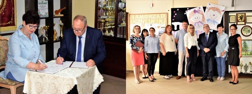 """Podpisanie umowy na dofinansowanie projektu pt.""""Edukacja przedszkolna w Mikoszewie - bliska, powszechna i przyjazna"""""""