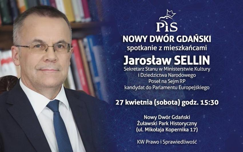 Spotkanie: Jarosław Sellin w Nowym Dworze Gdańskim.