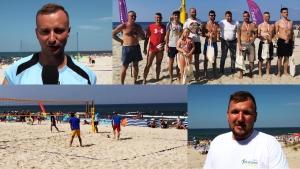 """Gmina Sztutowo na sportowo. Turniej Siatkówki Plażowej """"Spikon CUP"""" Rozgrywki na plaży."""