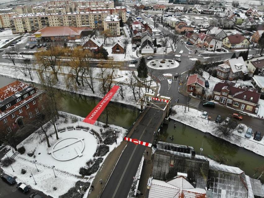 Nowy Dwór Gd. Zmiany w ruchu związane z remontem mostu w centrum.