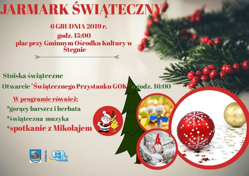 Odpalamy świąteczny klimat w Stegnie. Zaproszenie na Jarmark Świąteczny.
