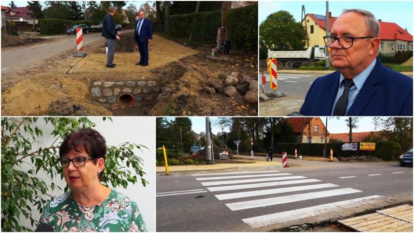 Gmina Stegna. Zrealizowano projekt przejścia dla pieszych w ciągu drogi nr 502 w Tujsku.