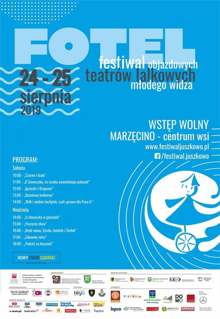 Festiwal Objazdowych Teatrów Lalkowych Młodego Widza FOTEL znowu zawita w Marzęcinie.