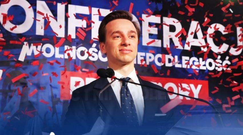 Krzysztof Bosak kandydat na urząd Prezydenta RP będzie gościć w Elblągu w środę 11 marca.
