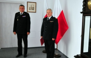 Bryg. Janusz Leszczewski został nowym komendantem Straży Pożarnej w Nowym Dworze Gdańskim.