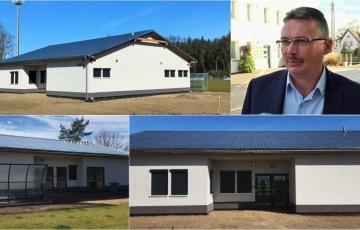 Rozbudowa i przebudowa boiska sportowego w Stegnie wraz z zapleczem sanitarnym.